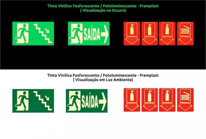 tinta vinilica fosforescente - Tinta Vinílica Fosforescente de longa duração
