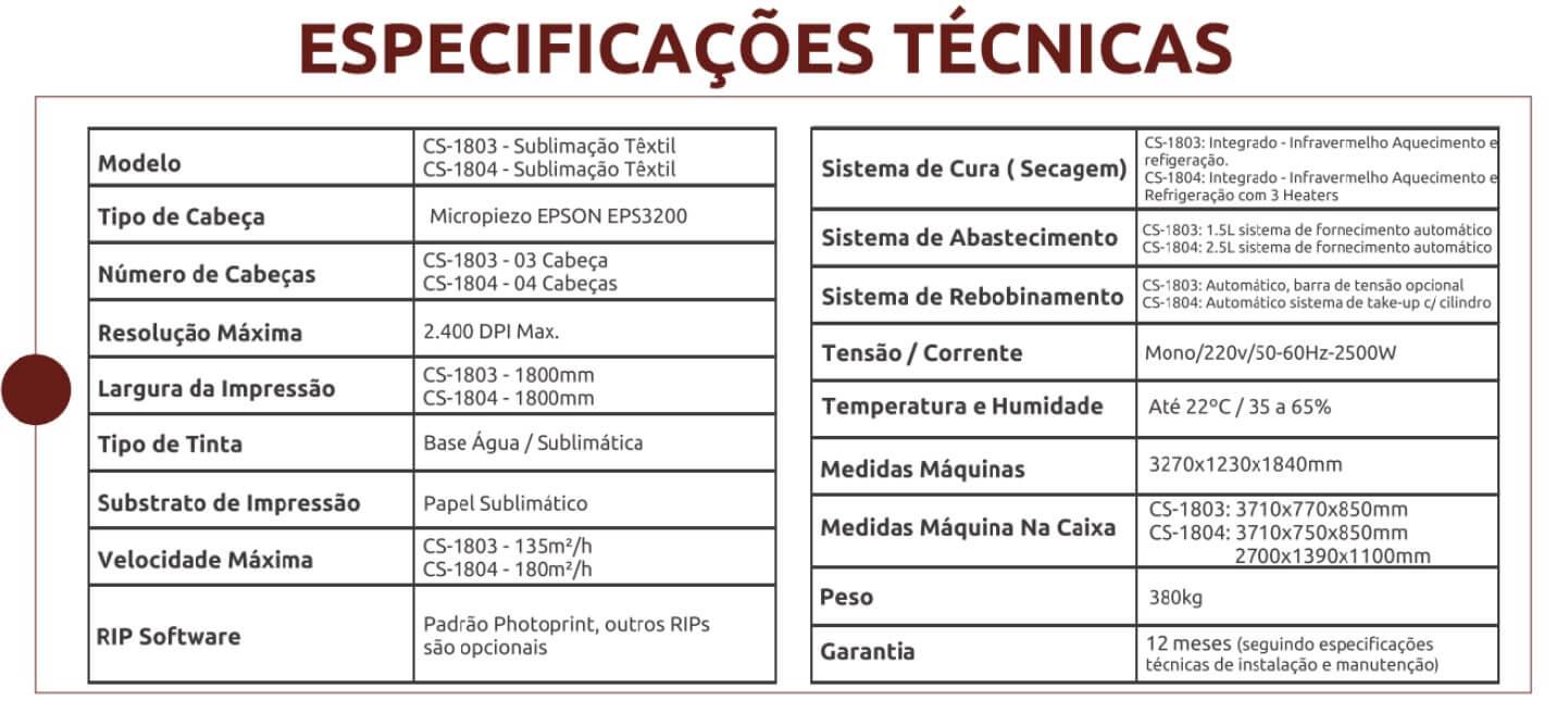 Coltex 3 e Coltex 4. especicacoes tecnicasjpg - Novidades: Impressoras Coltex CS
