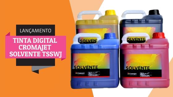 Lançamento ITINTA DIGITAL CROMAJET SOLVENTE TSSWJ - Confira Tinta Digital Cromajet Solvente TSSWJ