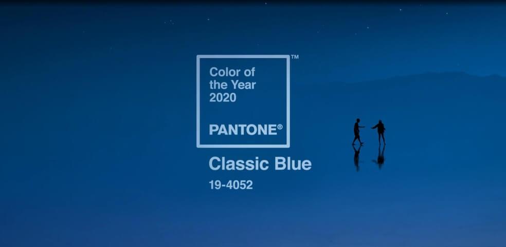 a cor de 2020 - A cor Pantone de 2020: Classic Blue