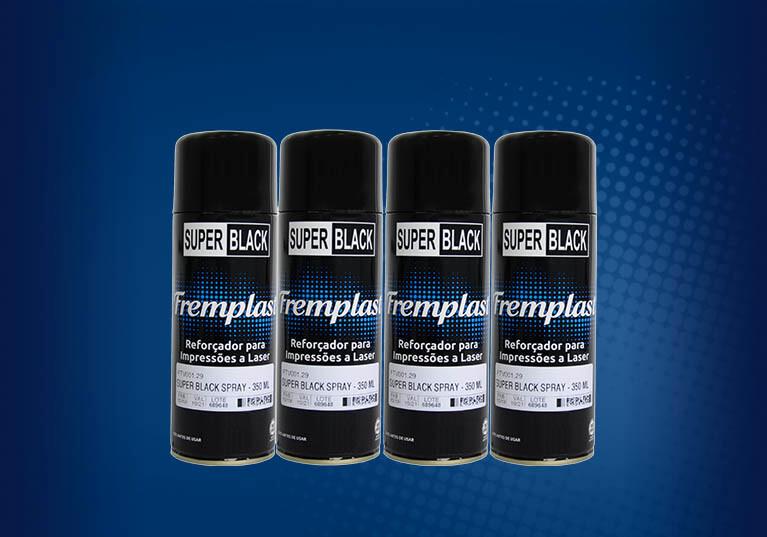Super Black <br> O reforçador de imagens em spray <br> Para matrizes serigráficas