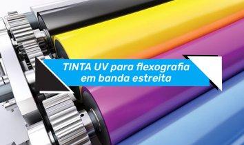 TINTA UV para flexografia em banda estreita